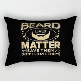 Beard Man Father Uncle Grandpa Rectangular Pillow