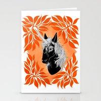 unicorn Stationery Cards featuring Unicorn by Laura Preston Illustration