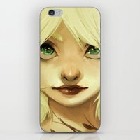 lily iPhone & iPod Skins featuring Lily by Sabrina Miramon