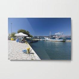 Corfu Fishing Boat Metal Print