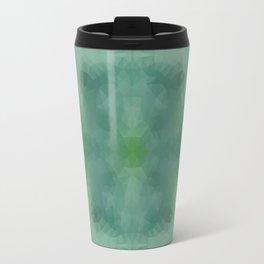 Kaleidoscopic design in green colors Travel Mug
