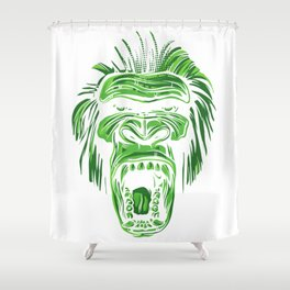 GORILLA KING KONG - Green Shower Curtain