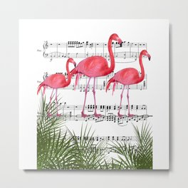 Flamingo dance Metal Print