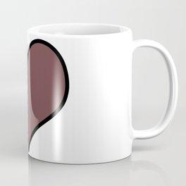 Pantone Red Pear Heart Shape with Black Border Digital Illustration, Minimal Art Coffee Mug