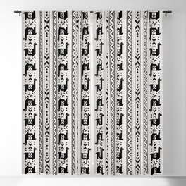 Llamas_Gray & Black Blackout Curtain