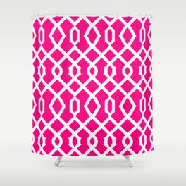 Grille No. 3 -- Magenta Shower Curtain
