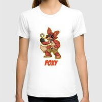 fnaf T-shirts featuring Foxy Plush by Silvering