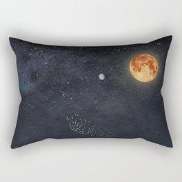 Venus and Moon Night Rectangular Pillow