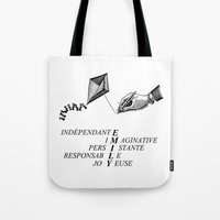 emily rickard Tote Bags featuring EMILY by mynameisemily