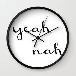 I hear what you're saying, but I disagree. Wall Clock