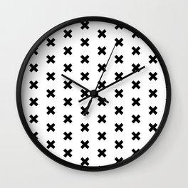 CROSS ((black on white)) Wall Clock