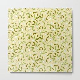 Rustic Mistletoe - Cream Metal Print