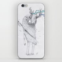 warrior iPhone & iPod Skins featuring warrior by luiza kwiatkowska
