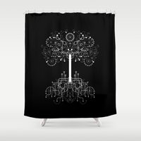 gondor Shower Curtains featuring The White Tree by Danny Schlitz