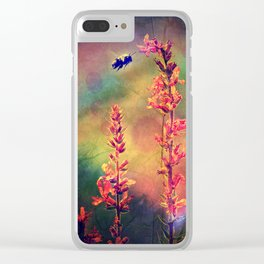 Bee N Wildflowers Diamond Earth Tones Clear iPhone Case