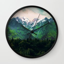 Escaping from woodland heights IV Wall Clock