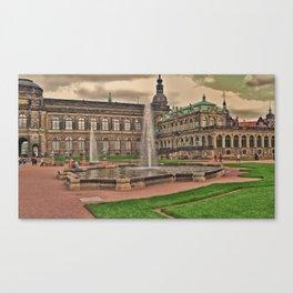 Zwingergarden Dresden Canvas Print