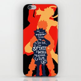 arigatou naruto (color set 2) iPhone Skin