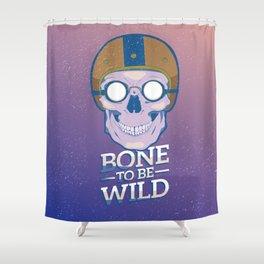 Skullture: Bone to be Wild Shower Curtain