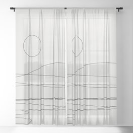 Abstract Landscape 15C Sheer Curtain