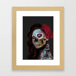 La Rosa Rojo Framed Art Print