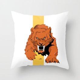 Saber Tooth Throw Pillow