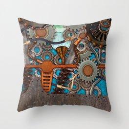 Steampunk Contraption Throw Pillow