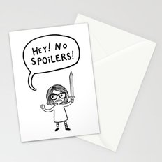 No Spoilers Stationery Cards