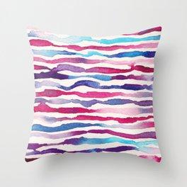 Twilight Zebra Chevron Throw Pillow