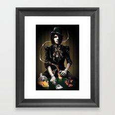 Coup de Poker Framed Art Print