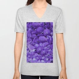 Amethyst  Hydrangea Flowers Garden Art Unisex V-Neck