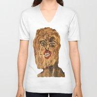 grunge V-neck T-shirts featuring grunge  by Samantha Sager