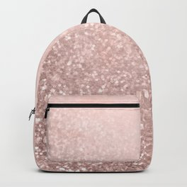 Rose Gold Sparkles on Pretty Blush Pink VI Backpack