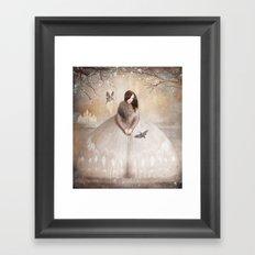 Moth Princess Framed Art Print