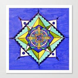 Mandala blues Canvas Print