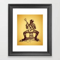 The Blues Man Framed Art Print
