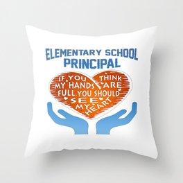 Elementary Principal Throw Pillow