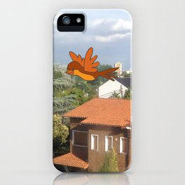 Flying with friends. iPhone Case