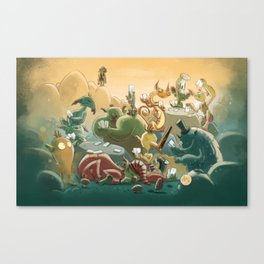 Goblins Drool, Fairies Rule! - Team Goblin Canvas Print