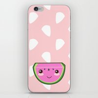 kawaii iPhone & iPod Skins featuring Kawaii Watermelon by Pati Designs