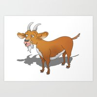 goat Art Prints featuring Goat by mailboxdisco