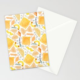 Pasta Pattern on White Stationery Cards