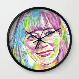 Rashida Jones (Creative Illustration Art) Wall Clock