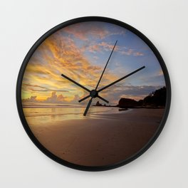 Playa Maderas Sunset Wall Clock