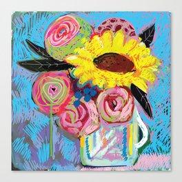 Bouquet S'il tu plait Canvas Print