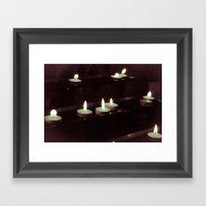 split toning candels Framed Art Print