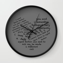 Quotes of the Heart - Clintasha (Black) Wall Clock