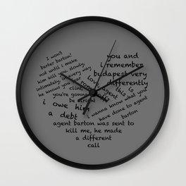 Quotes of the Heart - Clintasha (Black) Wall Clock