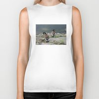ducks Biker Tanks featuring NYC / Ducks by johntrif
