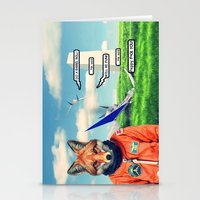 starfox Stationery Cards featuring Starfox - F*CK YOU PEPPY! by John Medbury (LAZY J Studios)